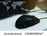 technology networking and... | Shutterstock . vector #1408048967
