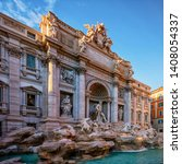 the famous trevi fountain in... | Shutterstock . vector #1408054337