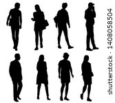 vector silhouettes men and... | Shutterstock .eps vector #1408058504