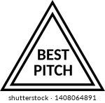 best pitch stamp on white | Shutterstock .eps vector #1408064891