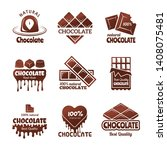 chocolate logo. sweets stylized ... | Shutterstock .eps vector #1408075481