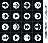 16 arrow pictogram in circle...