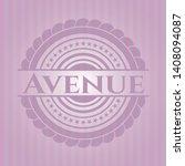 avenue pink emblem. vector... | Shutterstock .eps vector #1408094087
