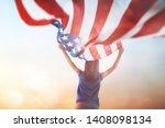 patriotic holiday. happy kid ... | Shutterstock . vector #1408098134