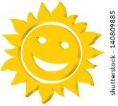 sun icon for various design | Shutterstock .eps vector #140809885