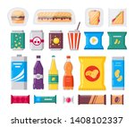 fast food snack and drink pack  ... | Shutterstock .eps vector #1408102337