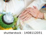 the asian couple holding hands... | Shutterstock . vector #1408112051