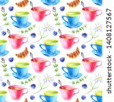 Watercolor Seamless Pattern In...