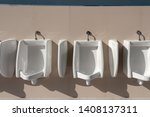 male bathroom  cleanliness ... | Shutterstock . vector #1408137311