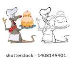 vector illustration of a cute... | Shutterstock .eps vector #1408149401