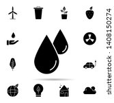 drop  fluid  liquid icon.... | Shutterstock .eps vector #1408150274