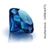 realistic sapphire on white... | Shutterstock .eps vector #140816371