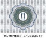 blue and green rosette or money ...   Shutterstock .eps vector #1408168364