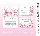 wedding invite  invitation ... | Shutterstock .eps vector #1408169234