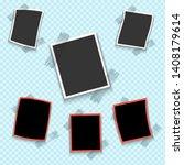 photo frame. white plastic... | Shutterstock .eps vector #1408179614