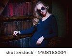 a portrait of an elegant lady... | Shutterstock . vector #1408183004