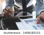 business analysis  investment...   Shutterstock . vector #1408183151
