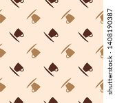 seamless flat brown coffee cup... | Shutterstock .eps vector #1408190387
