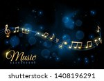 music note poster. musical... | Shutterstock .eps vector #1408196291