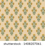 seamless indian mughal flower... | Shutterstock . vector #1408207061