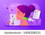 woman flat vector character... | Shutterstock .eps vector #1408208531