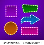 bulb frames of different shapes ... | Shutterstock .eps vector #1408210094