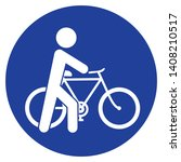 cyclist  get off the bike  go... | Shutterstock .eps vector #1408210517