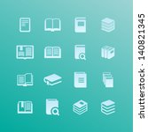 literature icons | Shutterstock .eps vector #140821345