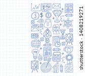 vector set of bussines icons in ... | Shutterstock .eps vector #1408219271