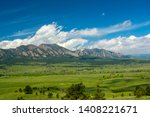 The Flatirons Mountains In...