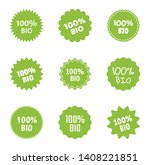 bio and natural food logo icon... | Shutterstock .eps vector #1408221851
