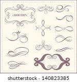 vector set  calligraphic design ... | Shutterstock .eps vector #140823385
