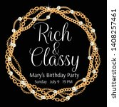 rich and classy. glamorous... | Shutterstock .eps vector #1408257461