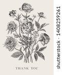 vintage vector floral... | Shutterstock .eps vector #1408259261