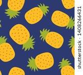 pineapple seamless pattern....   Shutterstock .eps vector #1408266431