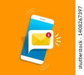 unread email notification. new... | Shutterstock .eps vector #1408267397