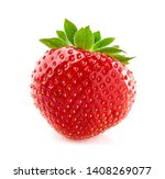 one strawberry in closeup on... | Shutterstock . vector #1408269077