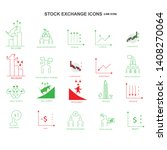 stock market quotes related... | Shutterstock .eps vector #1408270064