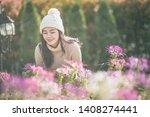 portrait of happy asian young... | Shutterstock . vector #1408274441
