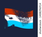 Luxembourg Flag Waved Design...