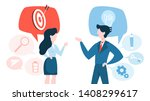 two business person stand and... | Shutterstock .eps vector #1408299617