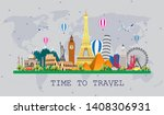 travel to world. road trip. big ... | Shutterstock .eps vector #1408306931