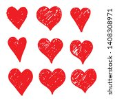 hand drawn heart icon sign | Shutterstock .eps vector #1408308971