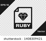 grey ruby file document icon.... | Shutterstock .eps vector #1408309421