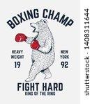 bear boxing vector illustration ... | Shutterstock .eps vector #1408311644