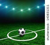 soccer ball on the green field... | Shutterstock . vector #140831311