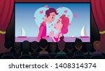 in cinema on screen broadcast...   Shutterstock .eps vector #1408314374