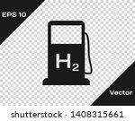 grey hydrogen filling station...   Shutterstock .eps vector #1408315661