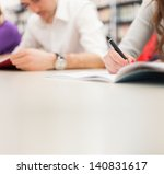 group of students doing a... | Shutterstock . vector #140831617