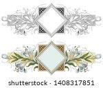 vector plant vignette for...   Shutterstock .eps vector #1408317851